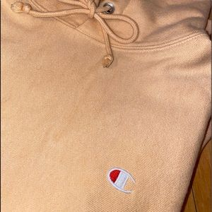 Peachy color Champion hoodie!